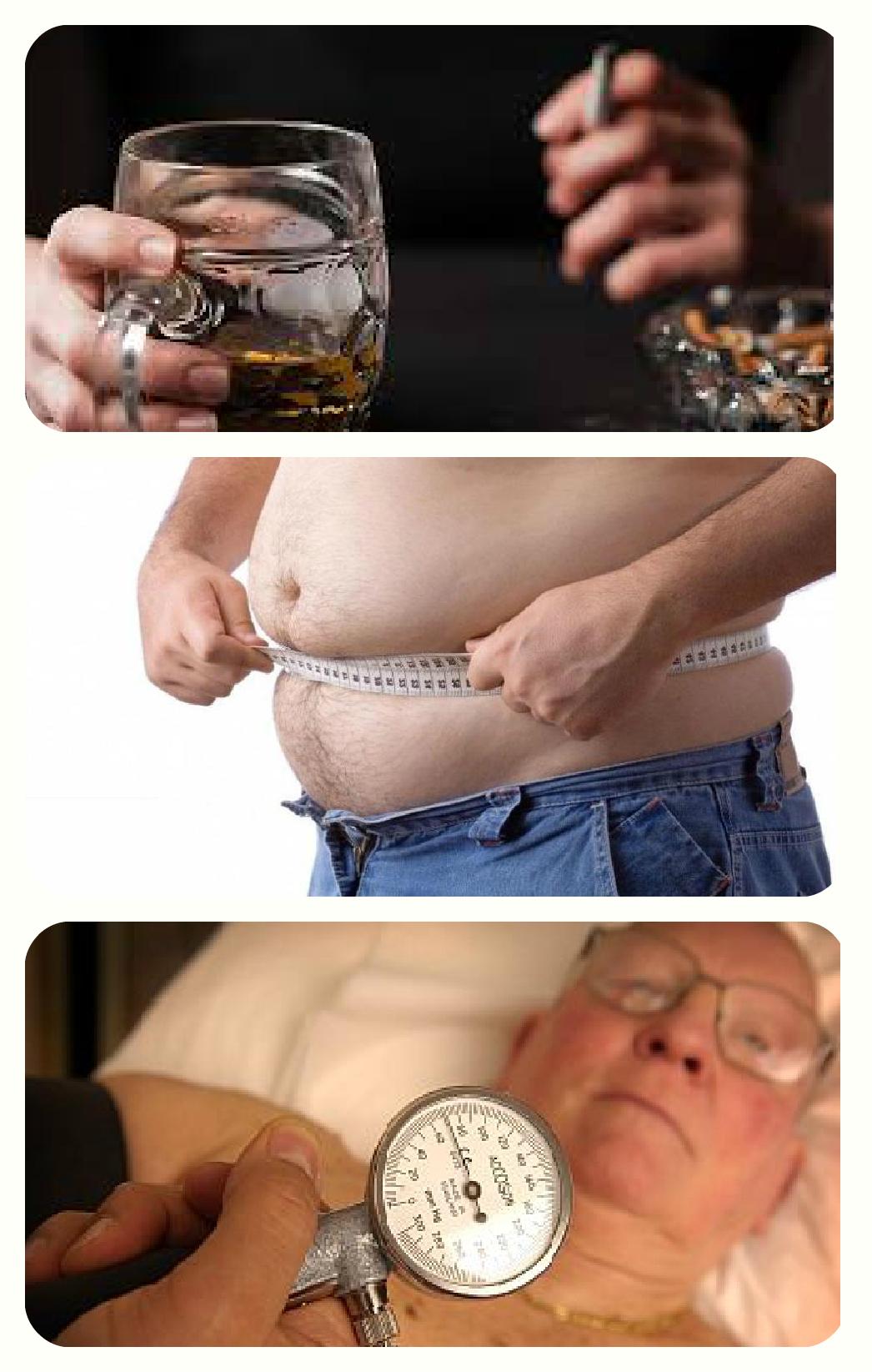 Толстый, алкоголь и сигарета,гипертоник