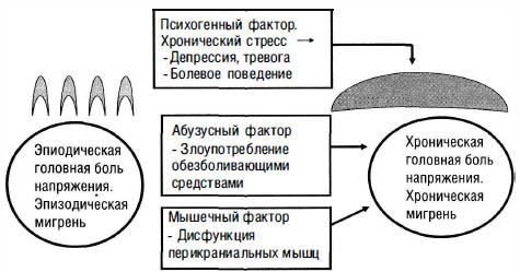 схема головная боль хронического характера