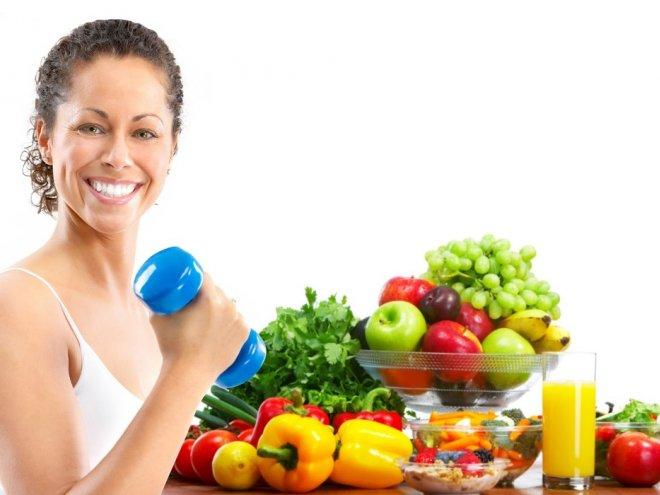 полезная еда и физические нагрузки