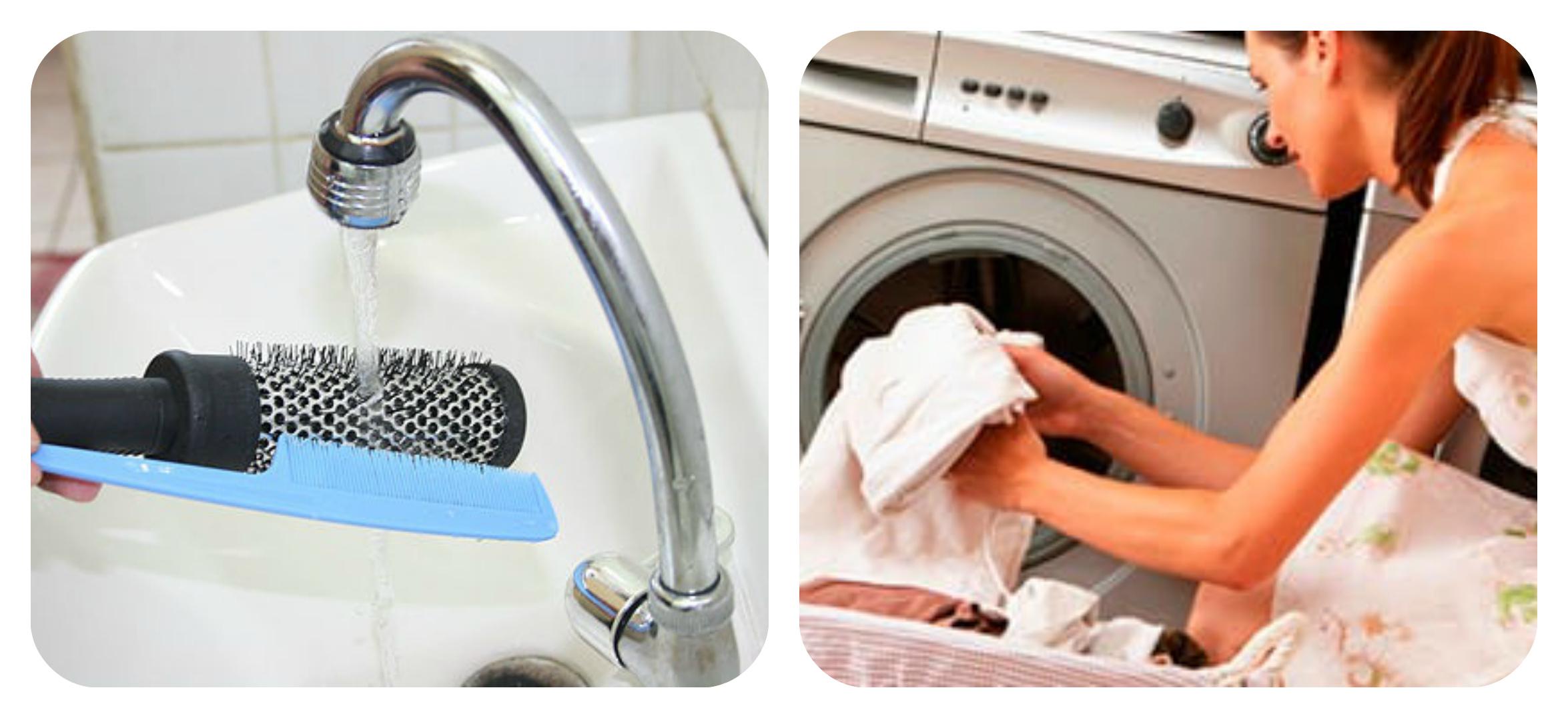 мытье расчески,стирка постельного белья