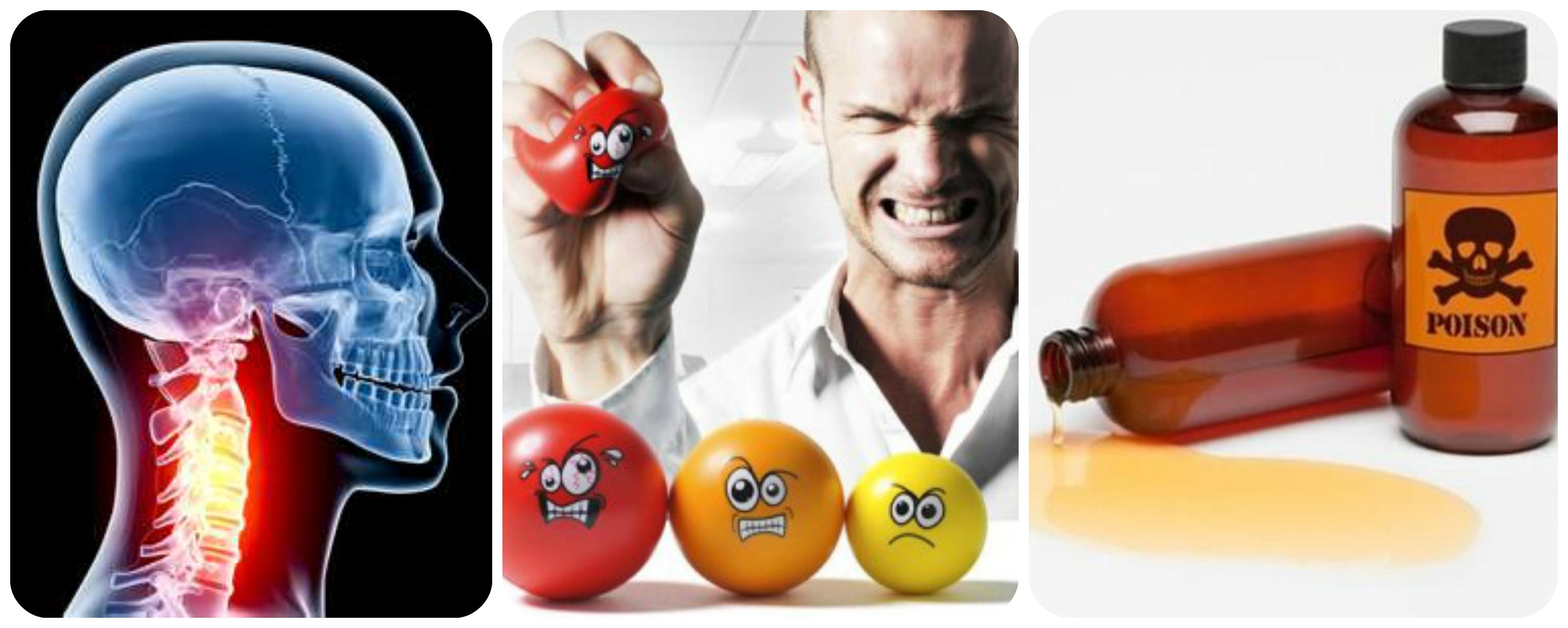шея, токсины, стресс