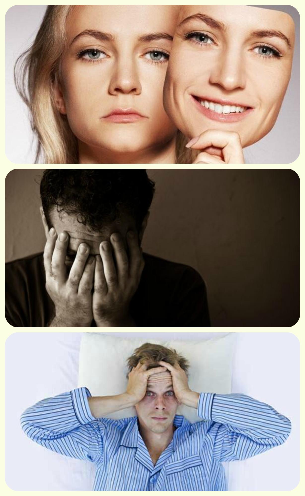 дипрессия. плохой сон . резкая смена настроения