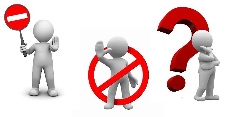 знак запрета, противопоказания