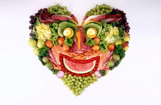 продукты в форме сердца