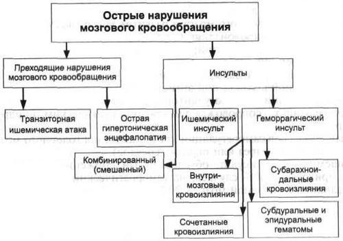 Классификация расстройств мозгового кровообращения