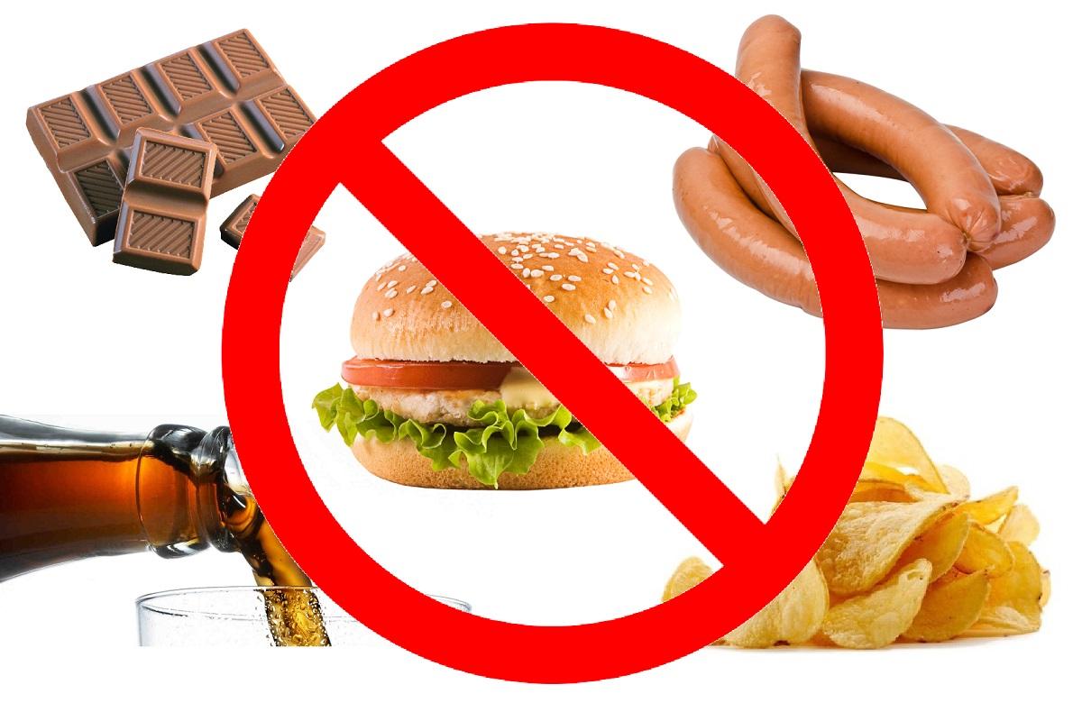 запрет на вредные продукты питания