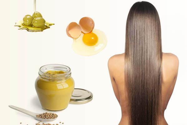 волосы горчица яйцо