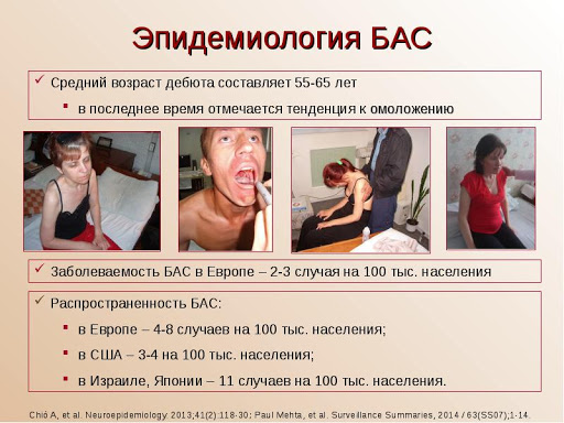 эпидемиология БАС