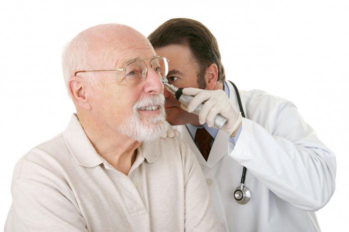Постановка диагноза уха
