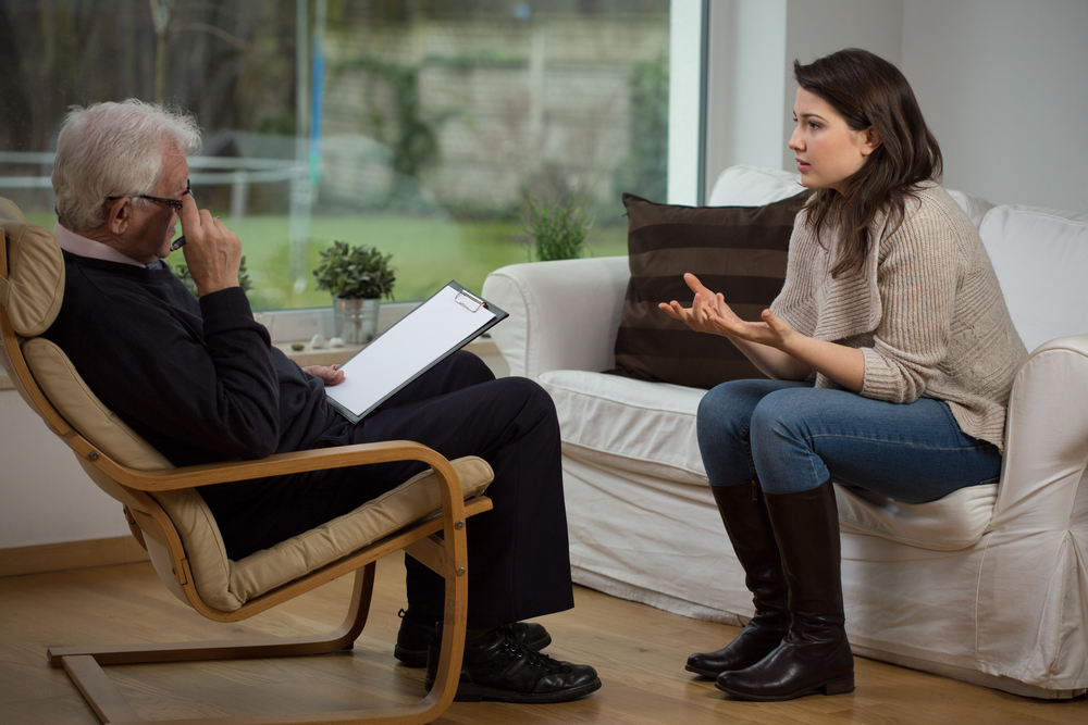 Работа с психологом, тревожный